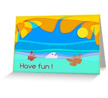 ocean fun _ vacations card_text Greeting Card