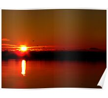 Fiery Cold  December Sunrise  Poster