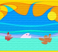 ocean fun_vacation card_texture02 by 1001cards