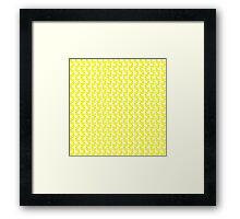 Cute Little Yellow Duckies Pattern Framed Print