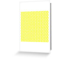 Cute Little Yellow Duckies Pattern Greeting Card
