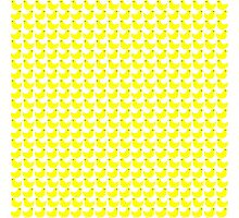 Cute Little Yellow Duckies Pattern Photographic Print