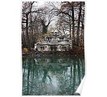 Parma. Fountain of Trianon on an Island in a Pond in the Parco Ducale, Italy 2009 Poster