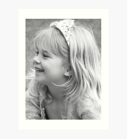 Hannah - b/w princess Art Print
