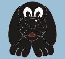 Children's Black Puppy Dog Kids Clothes