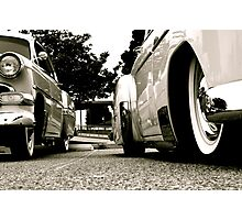 Asphalt and Whitewalls Photographic Print