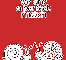we are a perfect match by 1001cards