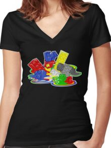 Toy Melt Women's Fitted V-Neck T-Shirt