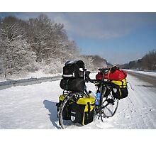January: Snowstorm-Carbondale, IL Photographic Print