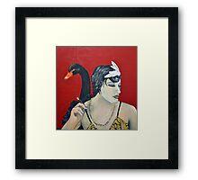 She's an Odd Bird: The Black Swan Framed Print
