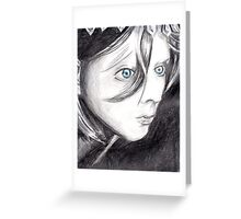 Blue Eyed Girl Greeting Card