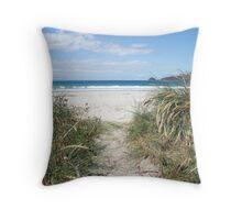 Beautiful beach, Bruny Island Throw Pillow