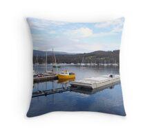 Marina at Kettering, Tasmania, Australia Throw Pillow