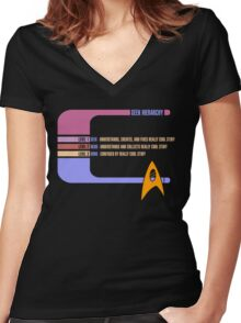 Geek Hierarchy Women's Fitted V-Neck T-Shirt