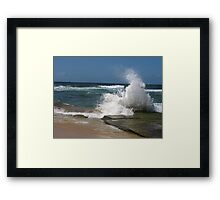 bar beach wave Framed Print