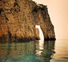 Blue Caves Arch - Greece by kuma-x