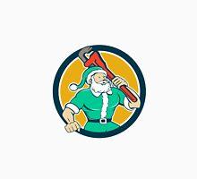 Santa Claus Plumber Monkey Wrench Circle Cartoon Unisex T-Shirt