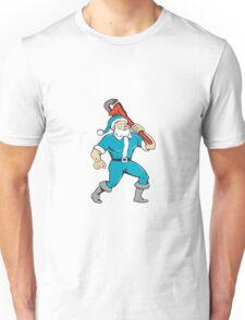 Santa Claus Plumber Monkey Wrench Isolated Cartoon Unisex T-Shirt
