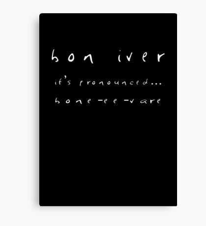 Bon Iver Design Canvas Print