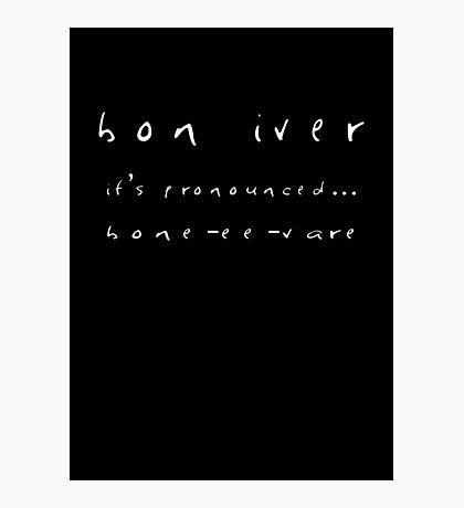 Bon Iver Design Photographic Print