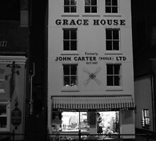 Grace House at night by vkirbys