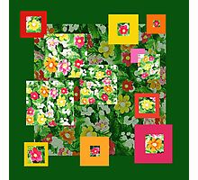 Floral Pattern Art Quilt III Photographic Print