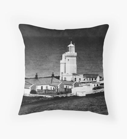 St Catherine's Lighthouse Throw Pillow