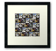 Giants Series Block Pattern Framed Print