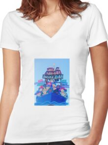It's a Small World Women's Fitted V-Neck T-Shirt