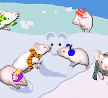 Snow Mice by Muninn