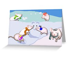 Snow Mice Greeting Card