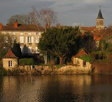 Evening Light on La Vienne by Pamela Jayne Smith