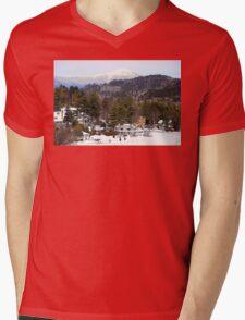 Mirror Lake Inn, Village of Lake Placid NY > Mens V-Neck T-Shirt