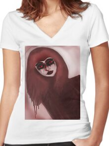 Child Women's Fitted V-Neck T-Shirt