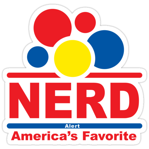 nerd alert black by Andi Bird