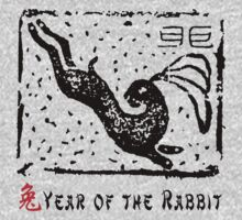 Chinese Year of The Rabbit - Using Very Old Chinese Stamp T-Shirt