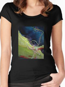 Fleeting 2 Women's Fitted Scoop T-Shirt