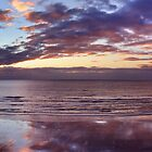 Raumati Beach, New Zealand Sunset Panorama by Russ Underwood
