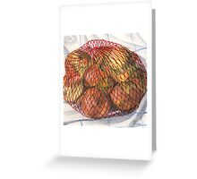 Sack of Yellow Onions Greeting Card