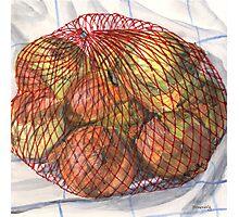 Sack of Yellow Onions Photographic Print