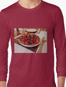 Roast Garden Vegetables with Mustard and Honey Long Sleeve T-Shirt