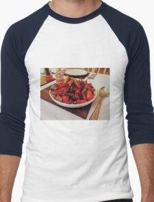 Roast Garden Vegetables with Mustard and Honey Men's Baseball ¾ T-Shirt