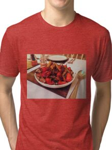 Roast Garden Vegetables with Mustard and Honey Tri-blend T-Shirt