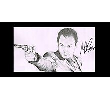 Crowley - Mark A. Sheppard Hand Drawing (Signed) Photographic Print