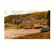 Conwy Castle and the West Bank Art Print