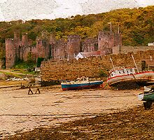Conwy Castle and the West Bank by Kelvin Hughes