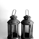 The two little lanterns in b&w by fourthangel