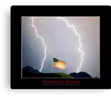 Patriotic Lightning Storm Canvas Print