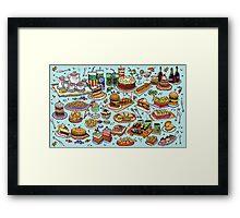 Food! Framed Print