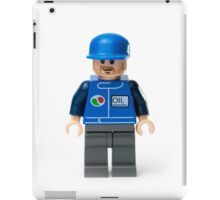 Oil mechanic minifig iPad Case/Skin